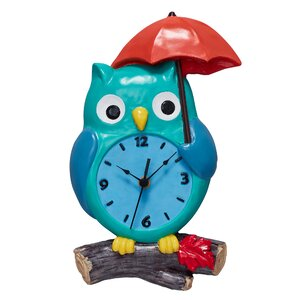 Enchanted Woodland Owl Wall Clock
