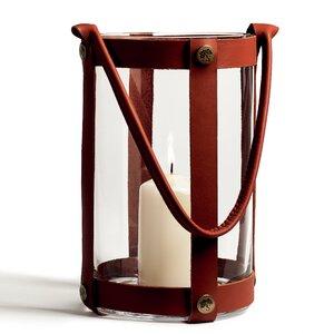 Marstrand Leather/Glass Lantern