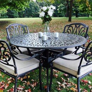 Bean Metal Dining Table by Fleur De Lis Living