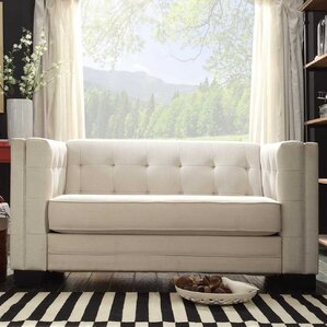 Rolland Tufted Upholstered Loveseat by Mercu..
