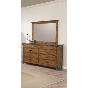 Hartford 8 Drawer Double Dresser with Mirror