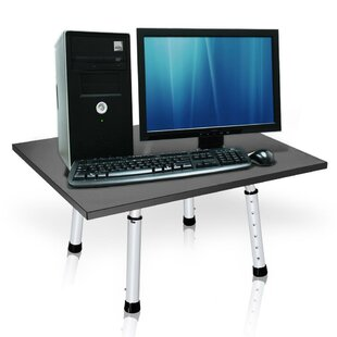 Hypes Laptop Monitor Height Adjustable Standing Desk Converter by Symple Stuff 2019 Online