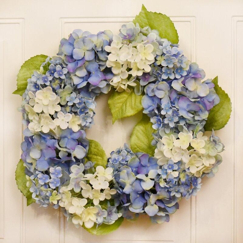 "Hydrangea 18"" Wreath"
