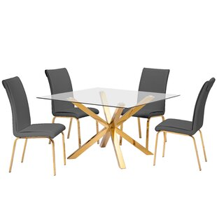 Villarreal 5 Piece Extendable Dining Set Mercer41