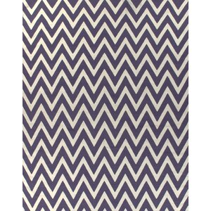 Flat Weave Plum/White Area Rug
