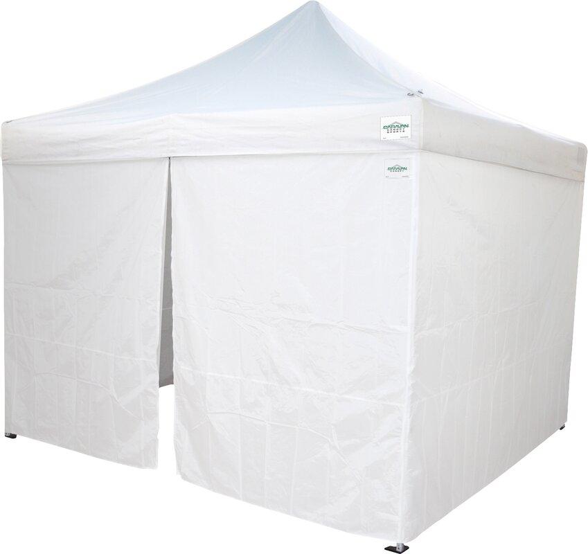 10 Ft. W x 10 Ft. D Commercial Grade Sidewalls Canopy  sc 1 st  Wayfair & ImpactCanopy Pop Up Food Service Vendor Canopy Tent Sidewalls ...