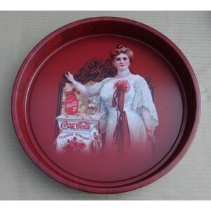 Round Tin Tray with Coca Cola Logo