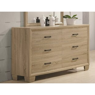 Cason 6 Drawers Double Dresser