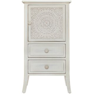 Whitt Antiqued Carved 1 Door Accent Cabinet by Bungalow Rose