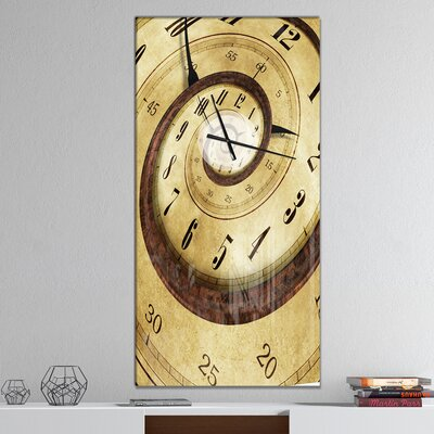 East Urban Homeendless Time Contemporary Wall Clock East Urban Home Size Large Dailymail