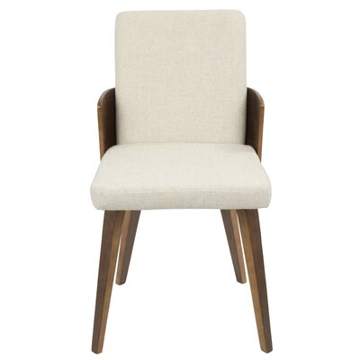 Brayden Studio Tadcaster Upholstered Dining Chair Upholstery Color: Cream