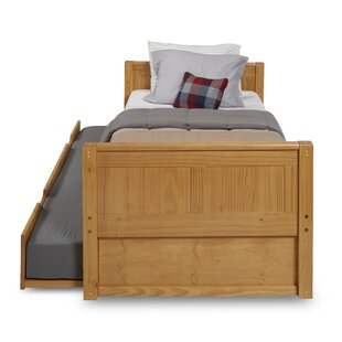 Oakwood Twin Platform Bed With Trundle by Harriet Bee Today Only Sale