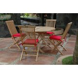 Farnam 5 Piece Teak Dining Set with Cushions