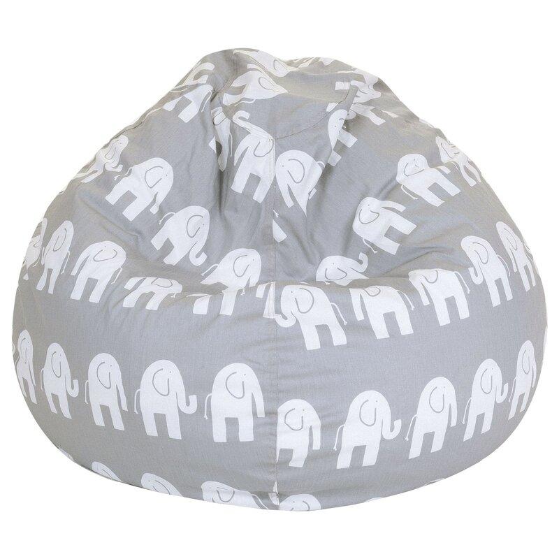 Elephant Print Bean Bag Chair
