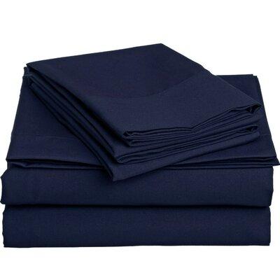 Off To Bed 6 Piece Comfort Deep Pocket Sheet Set Colour: Navy Blue, Size: Full