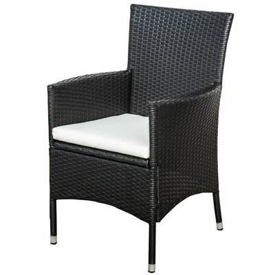 Fielding Patio Dining Chair with Cushion by Alcott Hill