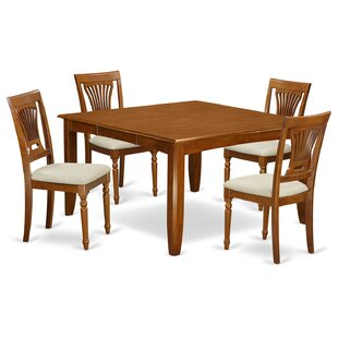 Parfait 5 Piece Dining Set by Wooden Importers Best Choices