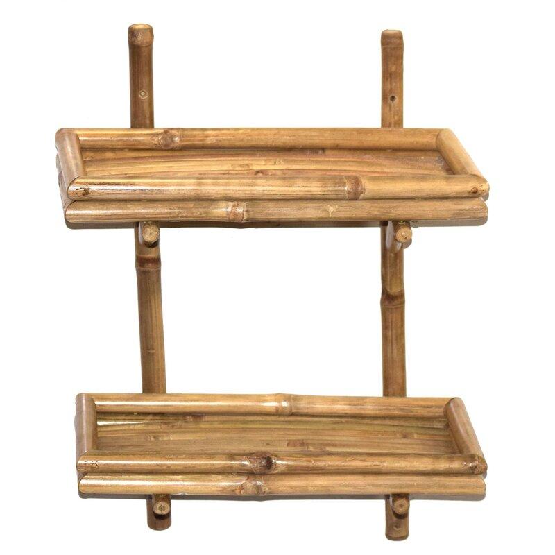 Bamboo54 Double Bamboo Wall Shelf & Reviews | Wayfair