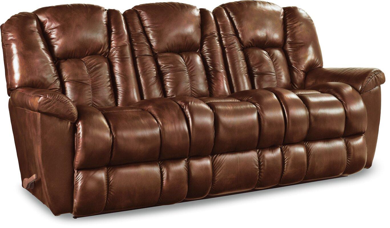 La Z Boy Maverick Leather Reclining Sofa Amp Reviews Wayfair