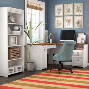 Oakridge 2 Piece L-Shaped Desk Office Suite by Beachcrest Home
