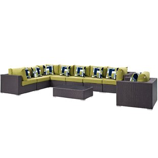 Brentwood 3 Piece Rattan Sectional Set with Cushions