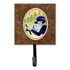 Woman Driving with Her Westie Leash Holder and Key Hook by Caroline's Treasures