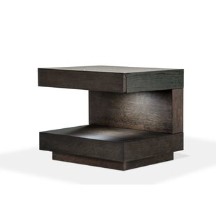 Reviews Chisholm Squared C Shaped Wooden Nightstand by Orren Ellis