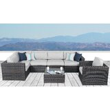 Dayne Wicker/Rattan 5 - Person Seating Group with Cushions