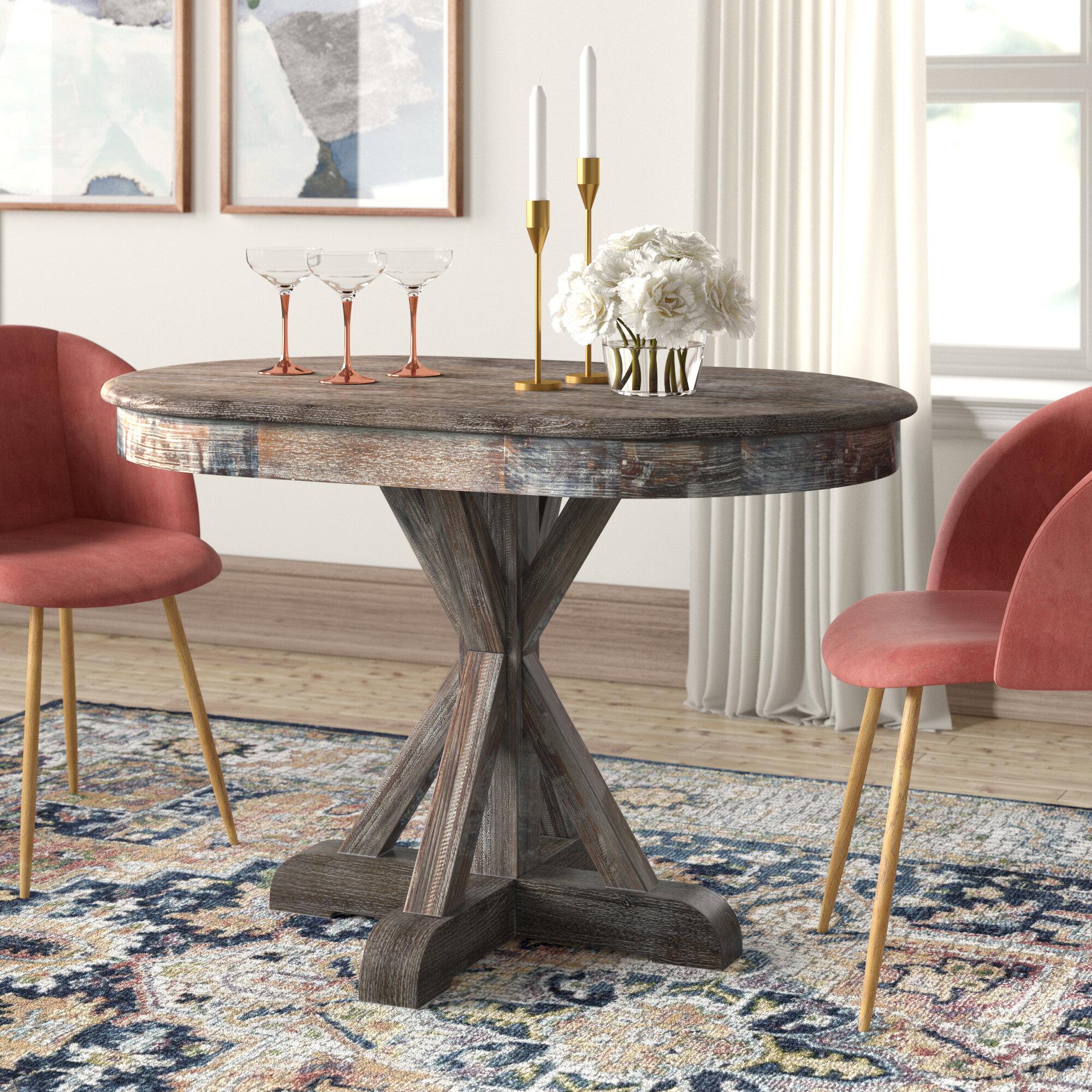Barlow Solid Wood Dining Table Reviews Joss Main