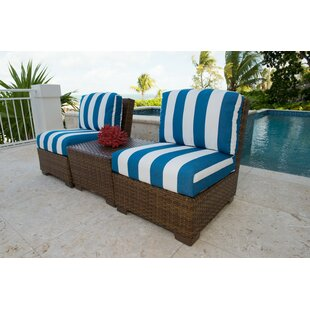Panama Jack 3 Piece Conversation Set With Cushions by Panama Jack Outdoor New Design