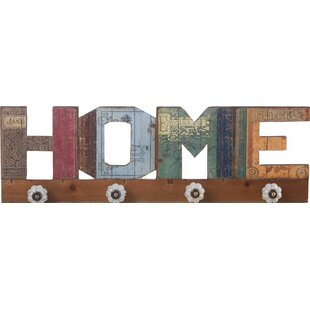 Ketaki Eclectic Home Sign Wall Hook by Bungalow Rose