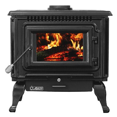Direct Vent Wood Burning Stove Ashley Hearth Finish: Flat Black