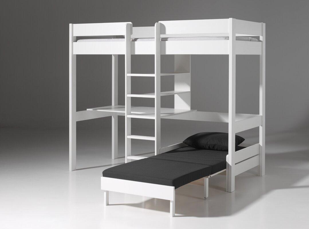 vipack hochbett pino mit schreibplatte und sesselbett 90 x 200 cm bewertungen. Black Bedroom Furniture Sets. Home Design Ideas