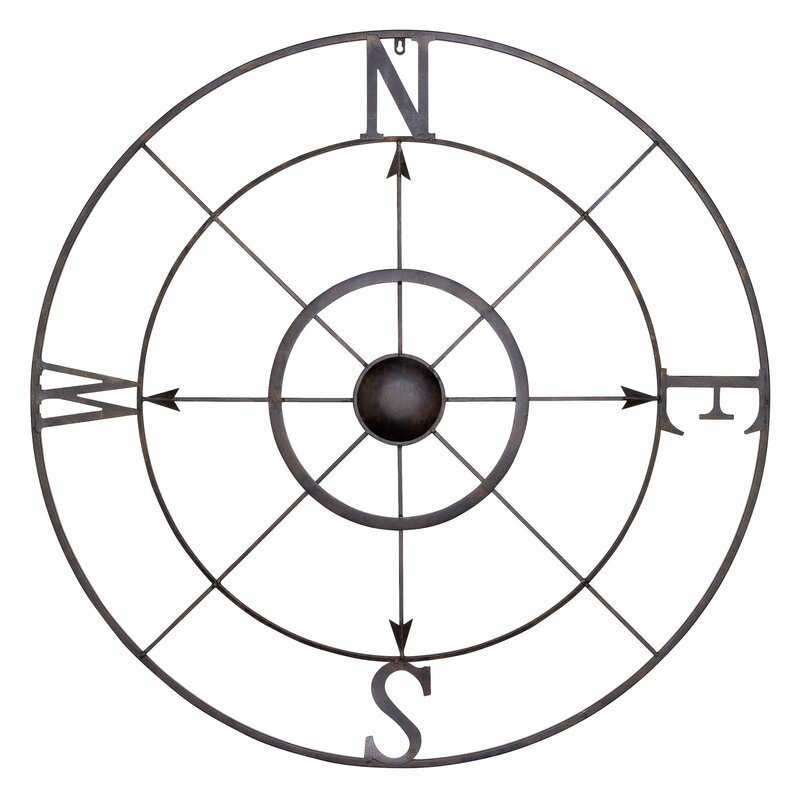 Rose Wall Decor bayaccents simple retro compass rose wall décor & reviews | wayfair