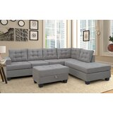 Austine 88.58 Reversible Modular Sectional with Ottoman by Red Barrel Studio®