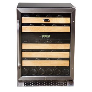 46 Bottle Dual Zone Built-In Wine Cooler by Whynter