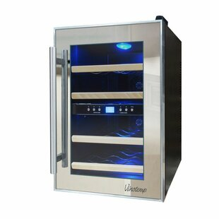 12 Bottle Dual Zone Freestanding Wine Cooler by Vinotemp Best Choices
