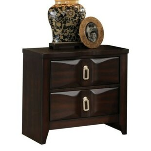 Stephen Wood 2 Drawer Nightstand by Alcott Hill