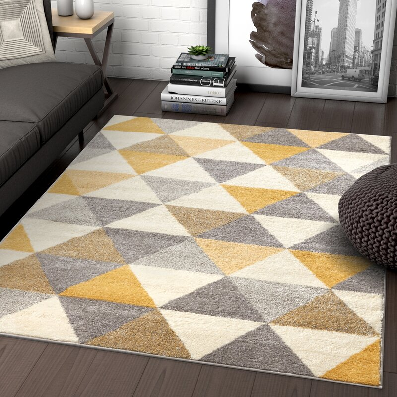 Zipcode Design Jemison Gold Area Rug Amp Reviews Wayfair Ca