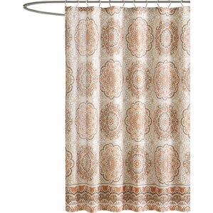 grey and orange shower curtain. Brayson Shower Curtain Orange Curtains You ll Love  Wayfair