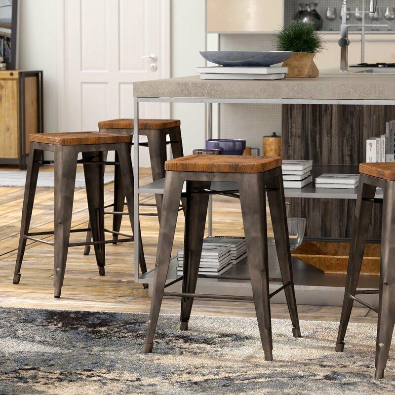Irvington Solid Wood Bar & Counter Stool (Set of 4)