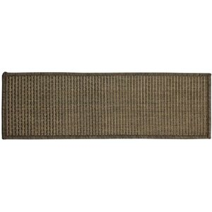 Lammers Jute Back Indoor/Outdoor Carpet Dark Gray Stair Tread