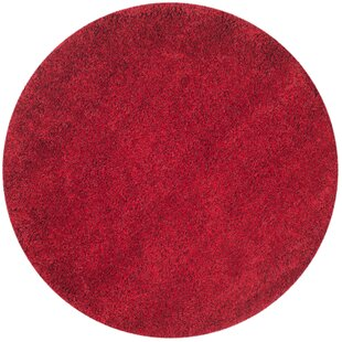 Rowen Handmade Flokati Red Area Rug by Wade Logan