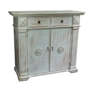 Antique Wooden 2 Drawer Accent Cabinet