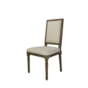 Comparison Auclair Weathered Upholstered Dining Chair (Set of 2) by One Allium Way Reviews (2019) & Buyer's Guide
