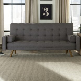 Hollywood Mid-Century Biscuit Tufted Click Futon And Mattress by Langley Street