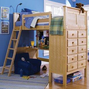 Sandisfield Twin Loft Bed with Dresser ByZoomie Kids