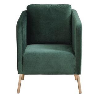 Charmant Velvet Emerald Green Chair | Wayfair