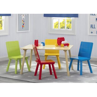 Cureton Kids 5 Piece Writing Table and Chair Set by Zoomie Kids