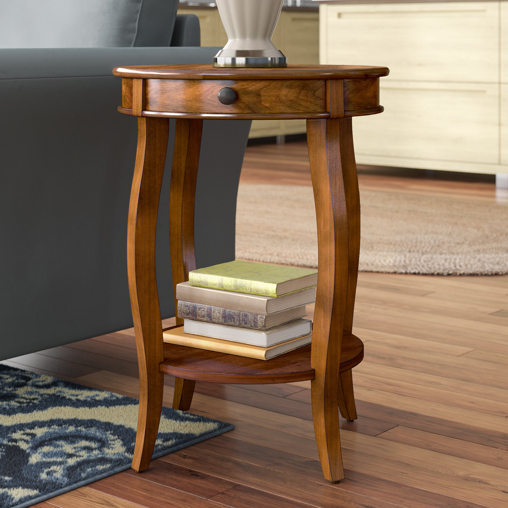 Charlton home shropshire end table with storage reviews wayfair